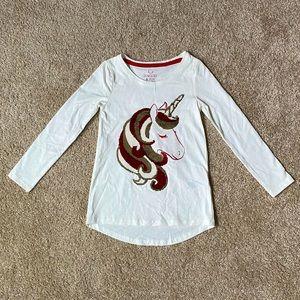 Jingles&Joy Girl Holiday Unicorn Long Sleeve NWOT